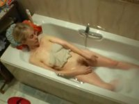 My aunt in the bathtub