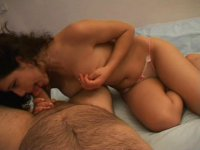 Perfectly curved brunette in reverse cowgirl