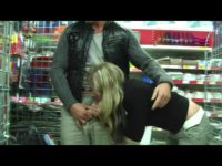 Blonde loves to sucks cock in public places