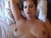 Brunette mom with soft giant boobies