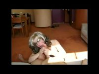 Nude mature wife in glasses