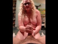 Mature woman pulls a dick