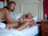 Mature woman is riding a cock