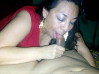 A milf is getting cumshot in mouth