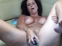 Mature woman jacks off