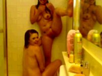 Two girls are teasing their pussies