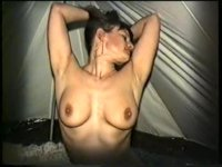 Yvonne gets naked in her tent