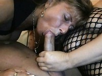 Blonde hottie joins me and wife in threesome