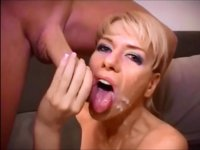A hot chick gets two large cocks