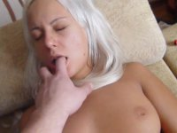 A sexy chick does a blow job