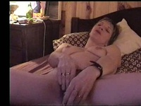 So pretty brunette milf wife masturbated in fron his lustful husband camara,damn