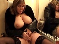 Big breasted Belgium honey masturbating