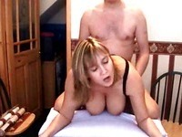 Chubby wife rammed from behind