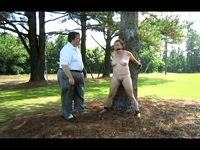Spanked in the park