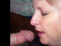Pretty mature blonde wife suck husband cock like no tomorrow,!damn hot!