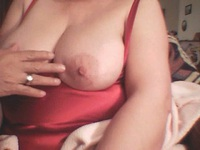 Pretty mature wife fun with with her tits and lustful husband,making a web video