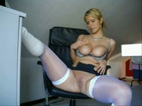 White stockings and bouncing hooters