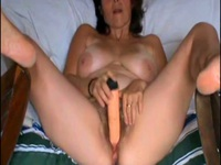 Her hairy pussy is hungry