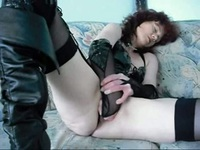 Kinky girl fisting her cunt