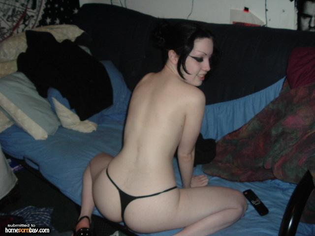 Nude hairy skinny