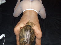 Sex with hot amateur blonde wife