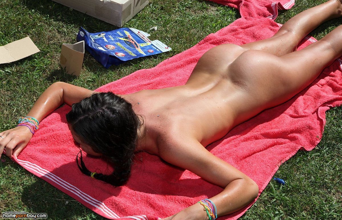 Photo of sunbather by photo stock source