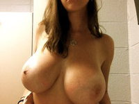 Busty amateur babe private pics collection