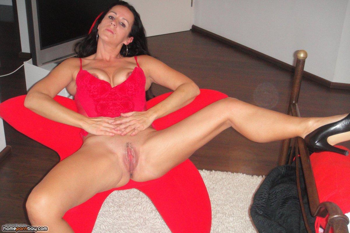 Busty nude spread legs