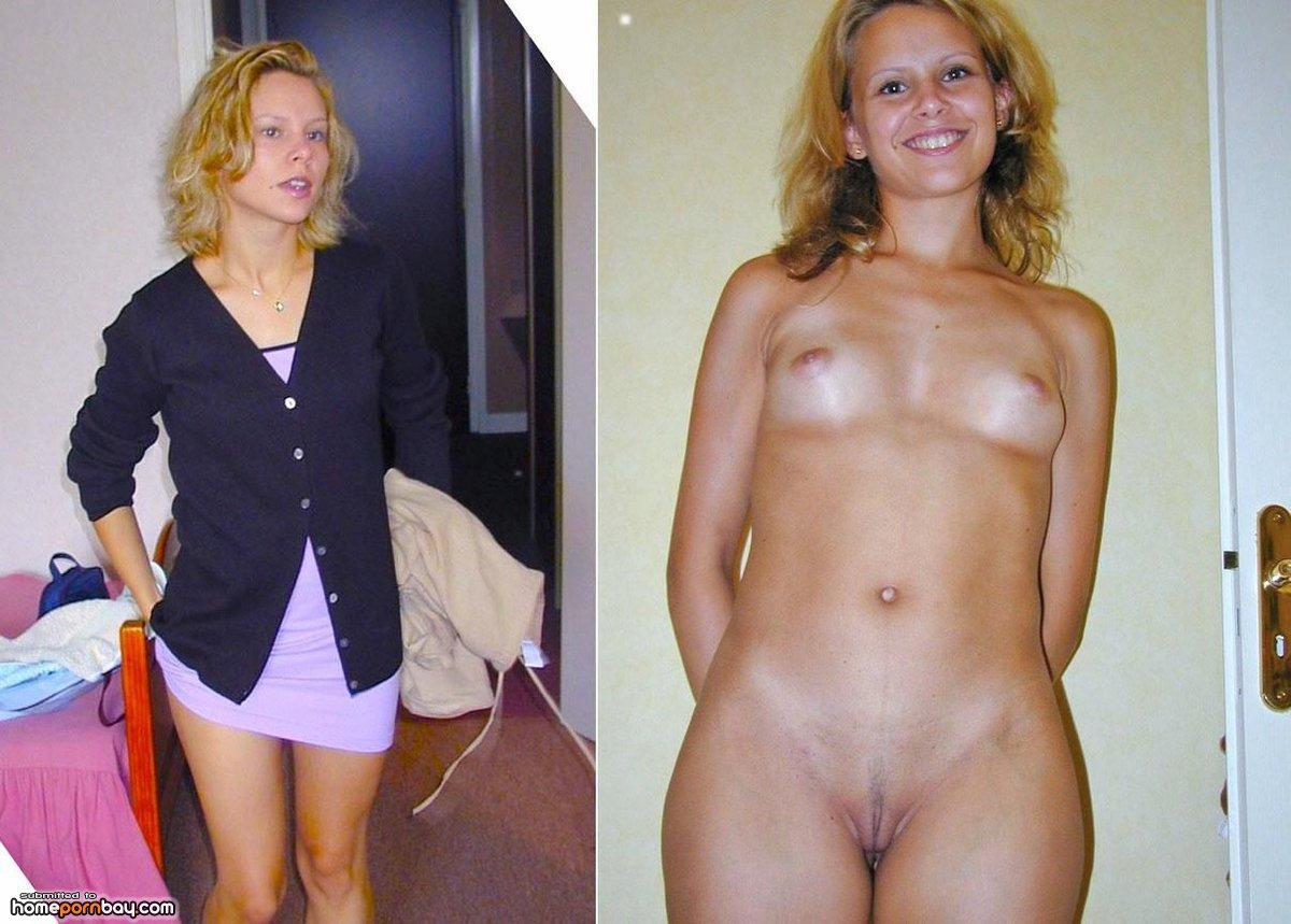 Free clothed then naked before and after