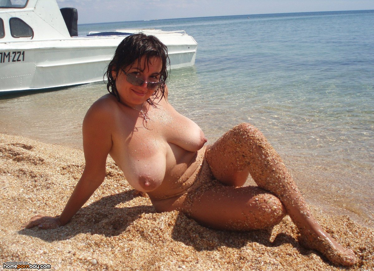 Moms busty beach naked