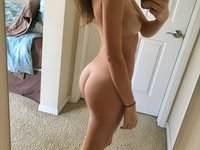 Nice girl making great selfie