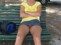 Blonde amateur MILF at vacation