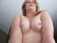 Mature amateur wife with small tits