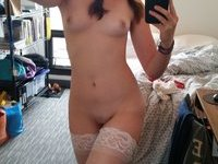Cute amateur GF making hot selfie