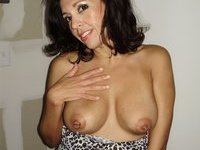 Amazing amateur brunette MILF part 2