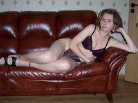 Amateur wife posing at home