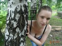 Cute forest naked teen