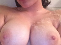 Young busty beauty GF selfies