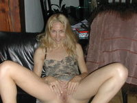 Mature skinny blond wife