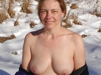 Mature amateur wife likes cream