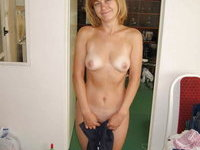 Mature amateur wife posing and having fun