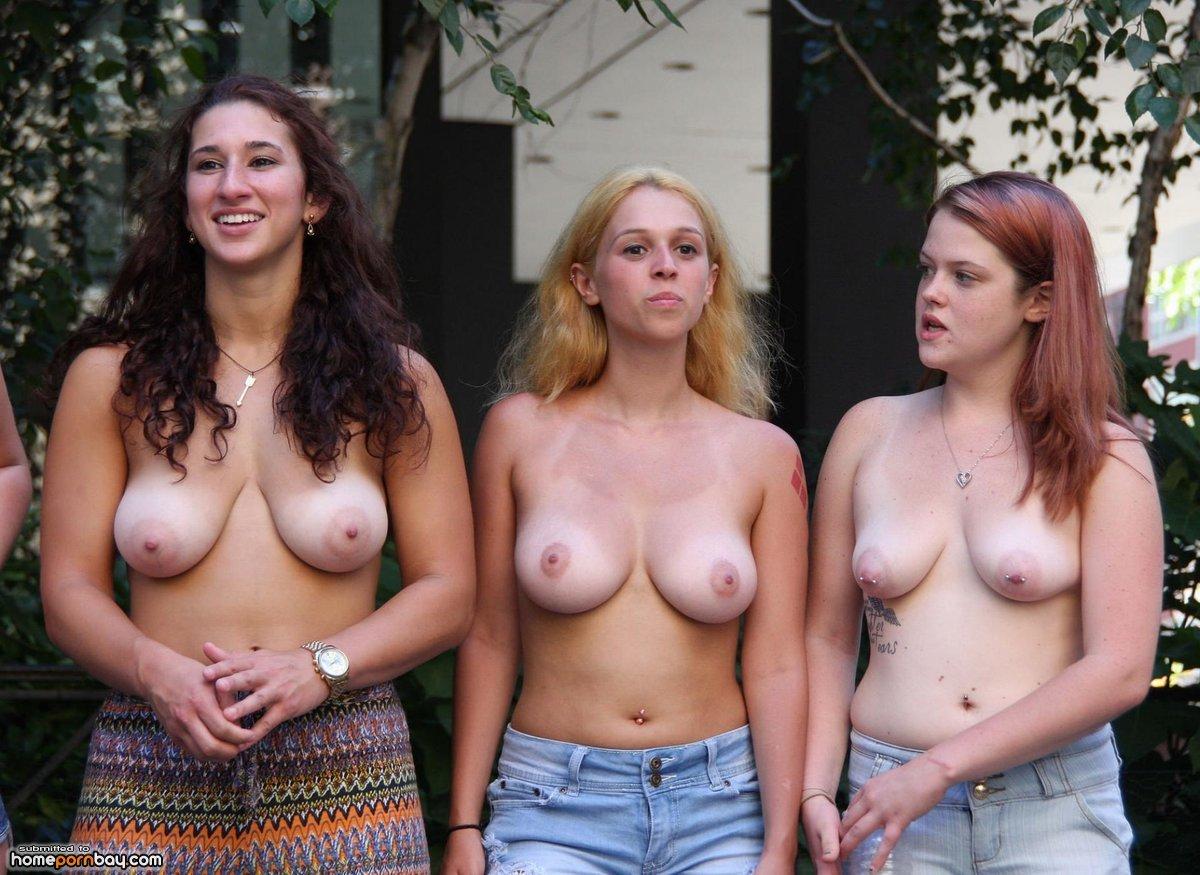 Hot Curvy Busty Brunette Teen Strips Naked Outdoors