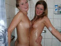 Girls taking a shower