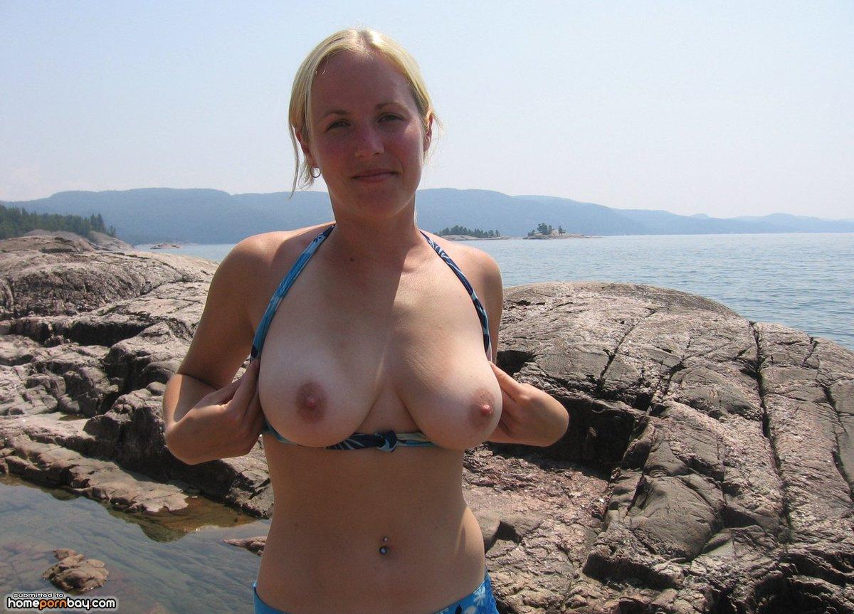 Natural big tits home porn