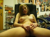 Beautiful solo babe touching herself
