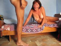 Tanned milf gets fucked from behind