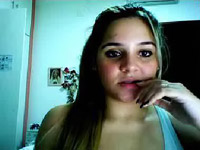 Brazilian webcam beauty screams as she masturbates