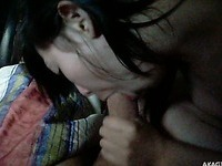 Hot Japanese teen couple fuck hard