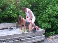 Intresting sex outdoors