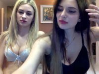 Two hot girlfriends strip in sex chat